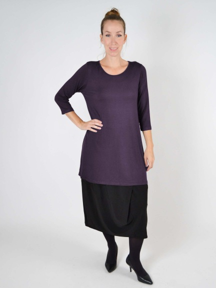 3/4 Sleeve Tunic Top by Comfy USA