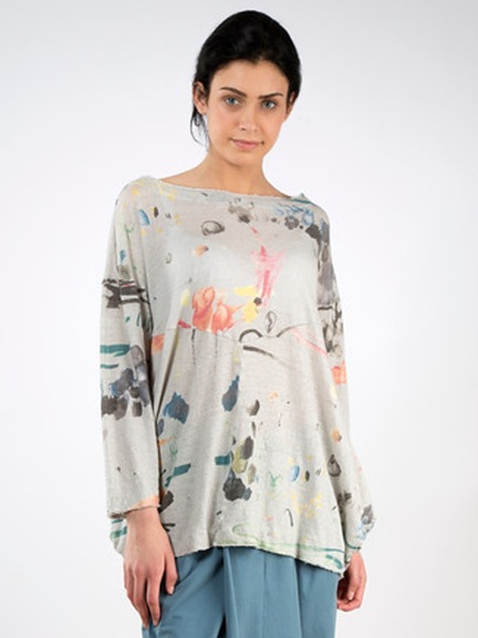 Abstract Linen Tee by Grizas