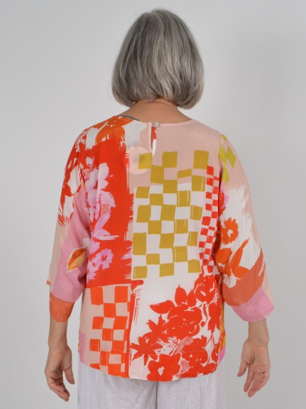 Abstract Print Top by Alembika