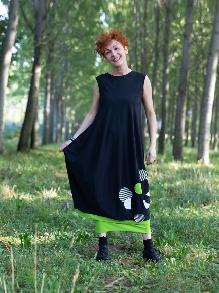 Baby Tech Patch Dress by Chiara Cocol