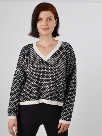 Basket Weave Sweater by Planet