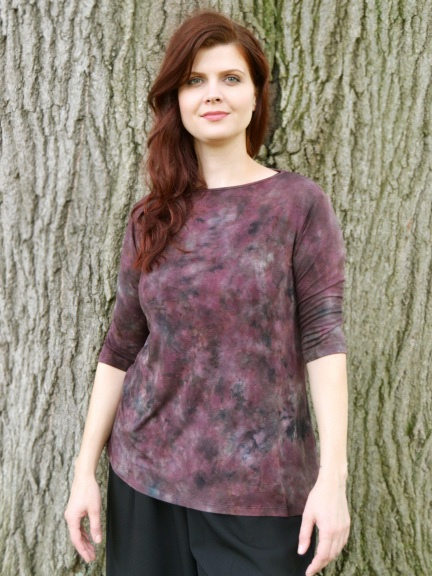 34f3819d191659 Chocolate Tie Dye T by Annie Turbin at Hello Boutique