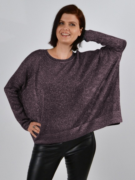 Boxy Sparkle Sweater by Planet