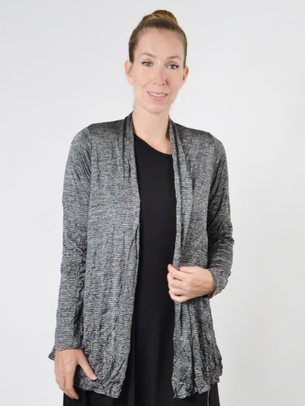 Catherine Crinkle Silver Stripe Jacket by Comfy USA