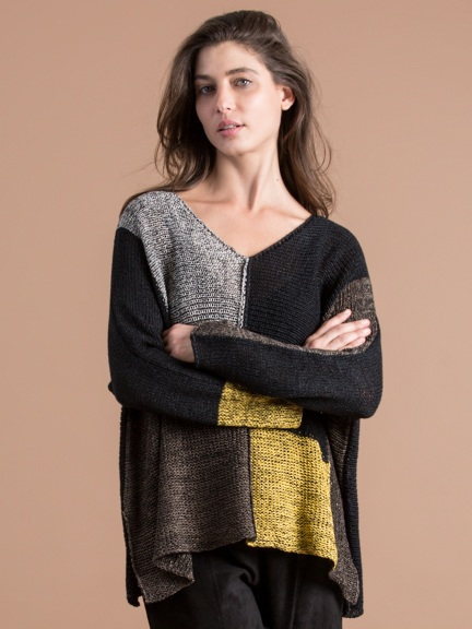 Colorblock Sweater by Alembika