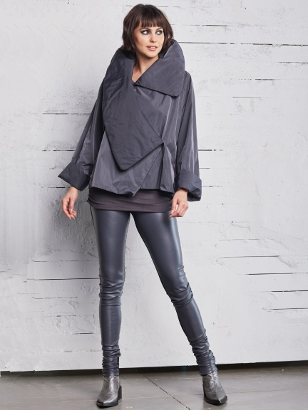 Cropped Asymmetrical Dinner Jacket by Planet
