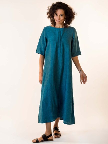 Cross-Dyed Pintuck Dress by Bryn Walker