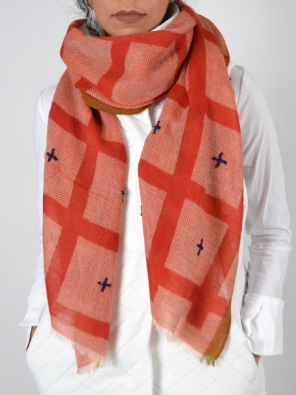 Davy Plaid Scarf by Amet & Ladoue