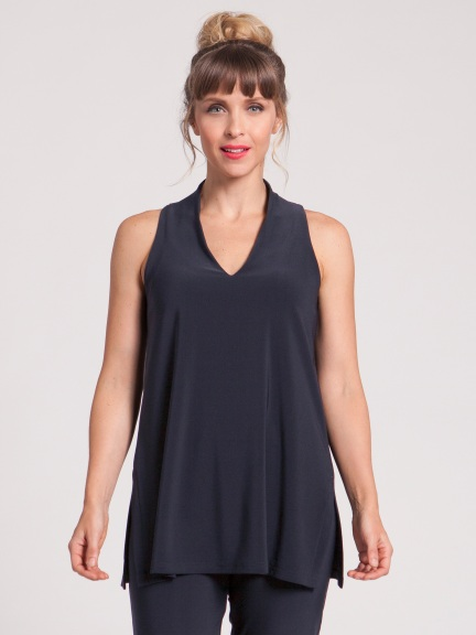 Deep V Tunic Tank by Sympli
