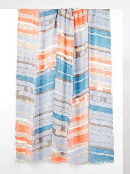 Delaunay Print Scarf by Kinross Cashmere