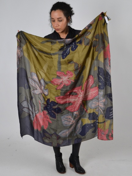 Delia Pop Art Floral Scarf by Amet & Ladoue