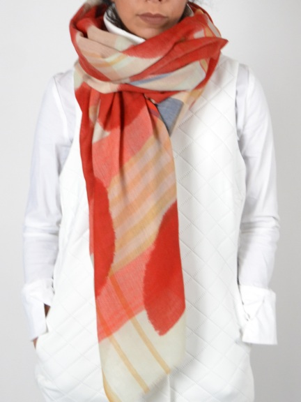 Delicia Dotted Plaid Scarf by Amet & Ladoue