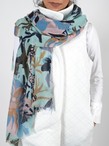 Dinh Floral Print Scarf by Amet & Ladoue