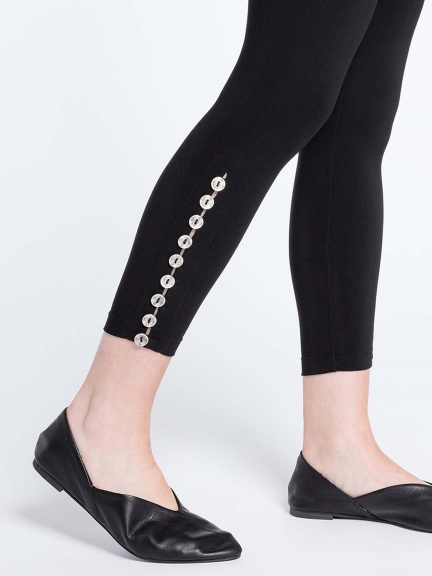 Diva Leggings, Metal Buttons by Sympli