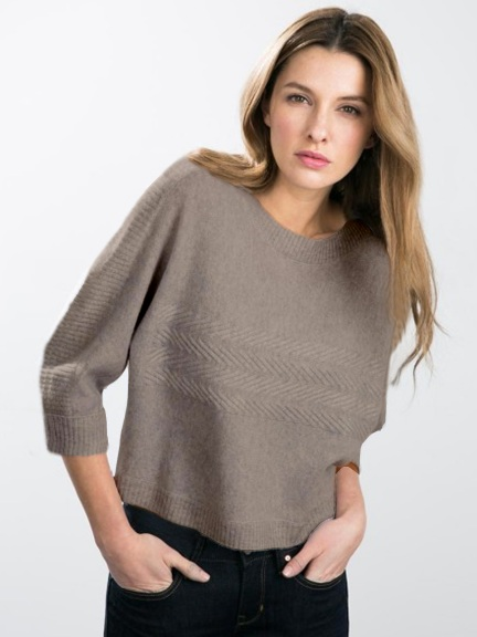 Dolman Boatneck w Cable Detail