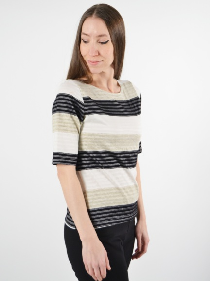 Dual Stripe Top by Klok