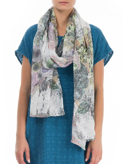 Flowers Print Scarf by Grizas