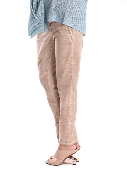 Gold Suedette Drawstring Pant by Alembika