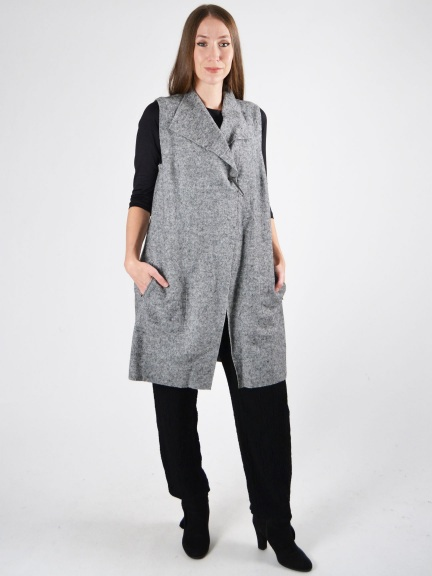 Heathered Vest w/Pin by Q'neel