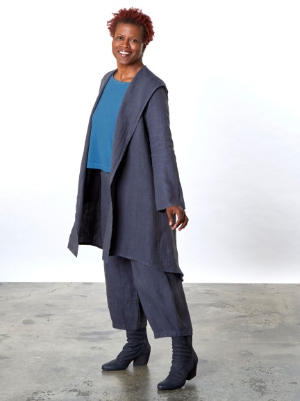 Heavy Linen Morgen Jacket by Bryn Walker