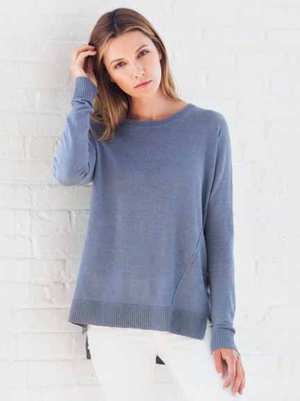 Hi-Low Pullover by Kinross Cashmere