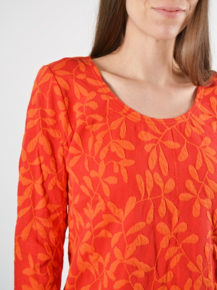 Leaf Jacquard Top by Klok