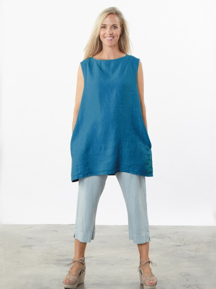 Light Linen Twiggy Tunic by Bryn Walker