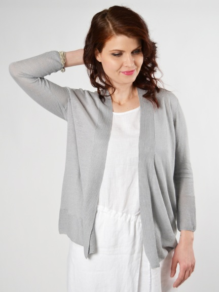 Linen Drape Cardigan by Kinross Cashmere