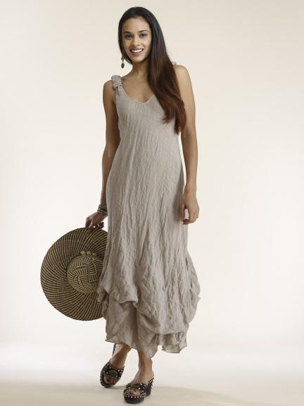 a6a784c5a5 Linen Gz. Bias Dress by Luna Luz at Hello Boutique