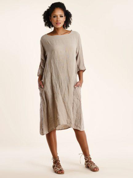 cdfe310a87 Linen Gauze Dress by Luna Luz at Hello Boutique
