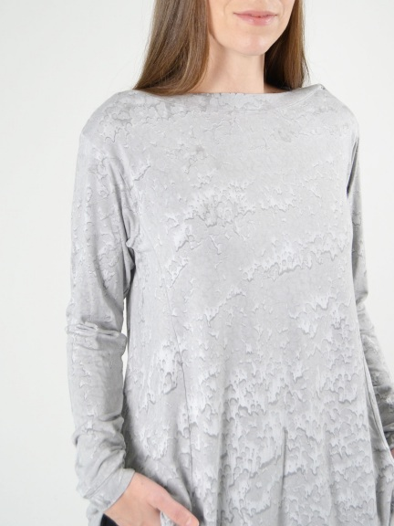 Long Sleeve Boat Neck Tunic by Annie Turbin