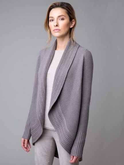 Luxe Circle Cardigan by Kinross Cashmere