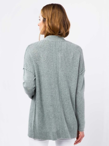 Micro Cable Cardigan by Kinross Cashmere