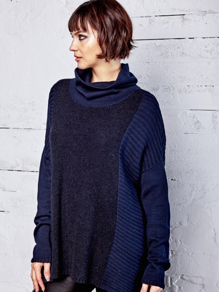 Mixed Knit Turtleneck by Planet