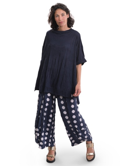 Navy Dot Punto Pant by Alembika