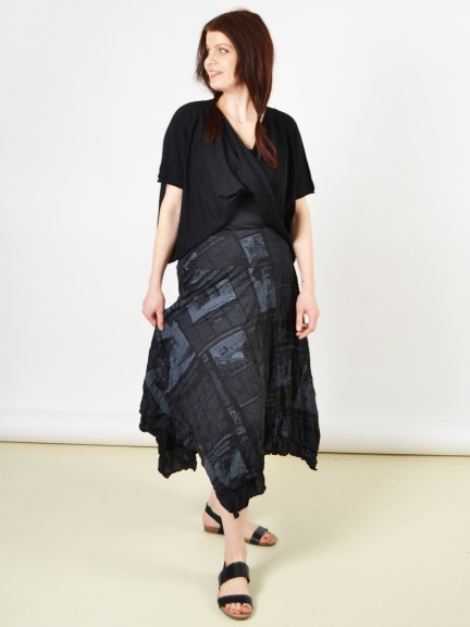 Newsprint Lori Skirt by Comfy USA