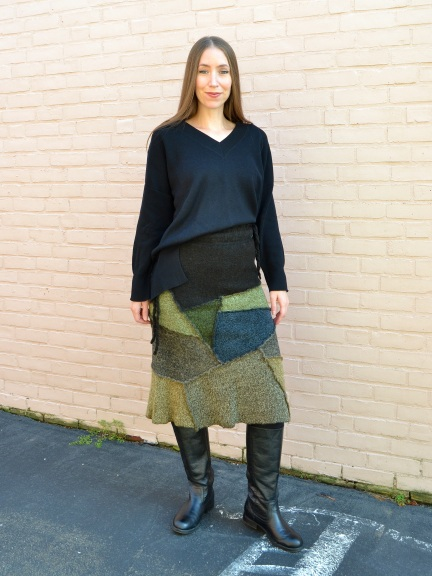 Patchwork Skirt by Butapana