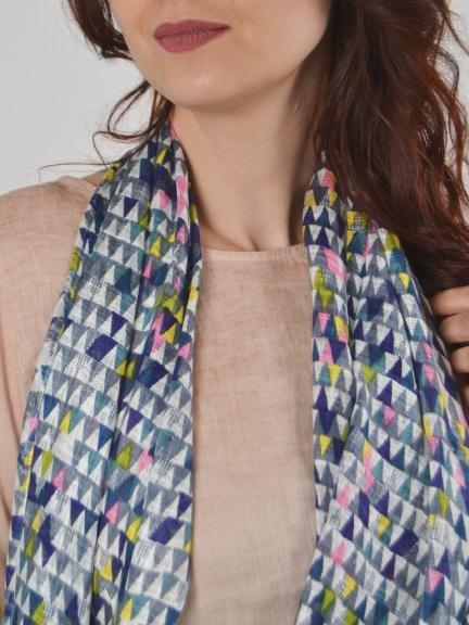 Asian print scarf