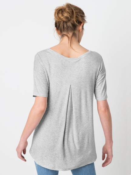 Pleat Back Tee by Kinross Cashmere