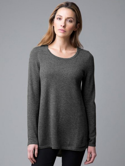 Pleat Back Tunic by Kinross Cashmere
