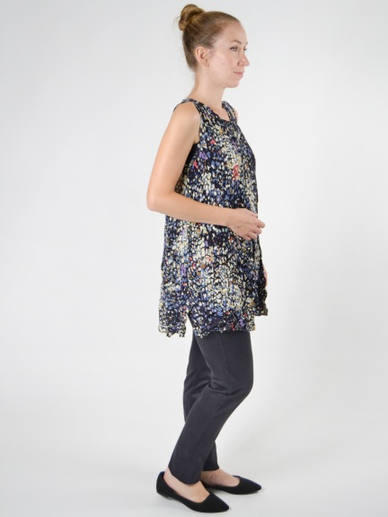 Print Cindy Tunic Tank by Comfy USA