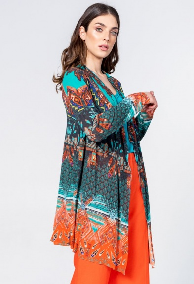 Printed Cardigan by Ivko