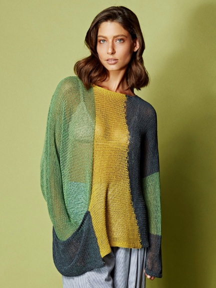 Pullover Colorblock w/ pocket by Alembika
