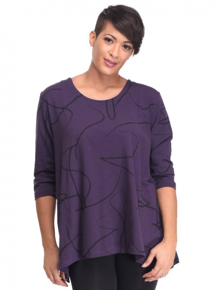 Purple Ribbon Adaline Top by Snapdragon & Twig