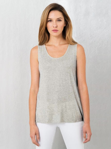 Relaxed Tank by Kinross Cashmere