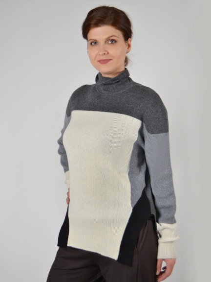 Seacole Colorblock Sweater by Plush Cashmere