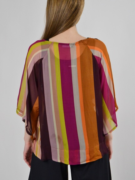 Sheer Stripe Top by Alembika
