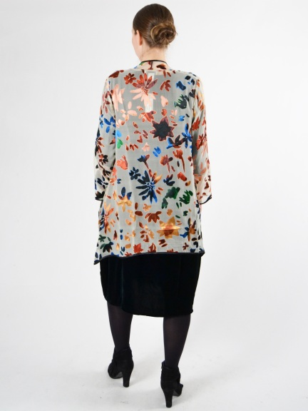 Silk Burnout Blouse by Aris A.