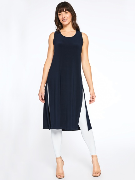 Sleeveless High Slit Over Under by Sympli