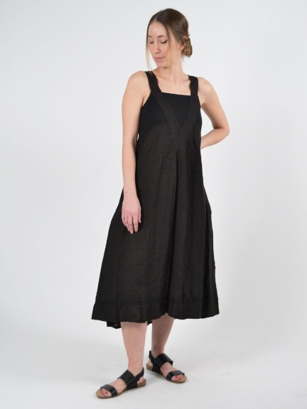 Square Neck Dress by Inizio